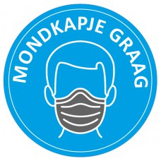 Safety Distance Sticker Mondkapje graag