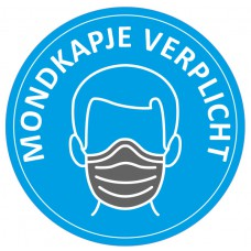 Safety Distance Sticker Mondkapje verplicht