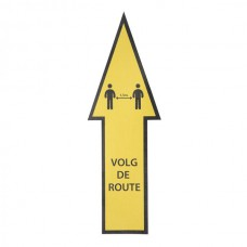 Safety Route Sticker, geel, tapijt